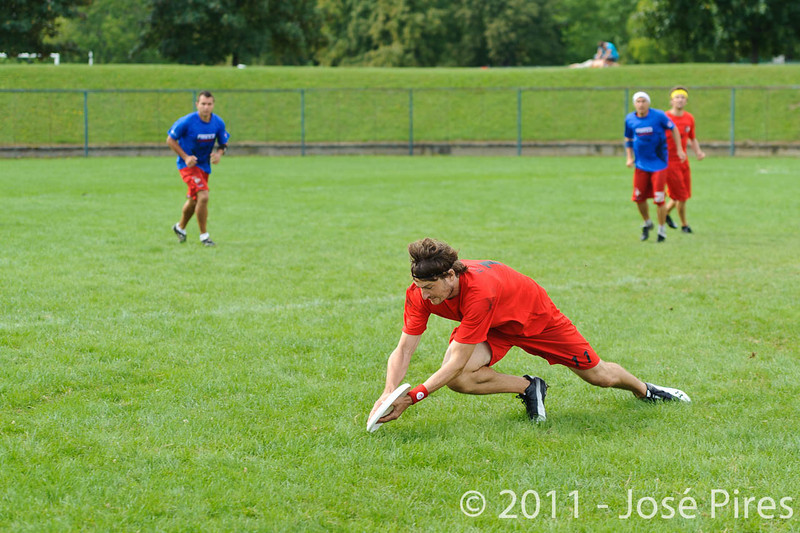 EUC2011, Maribor Slovenia.<br /> France vs Denmark. Pre-Quarterfinals. Open Division<br /> PhotoId :2011-08-04-0022
