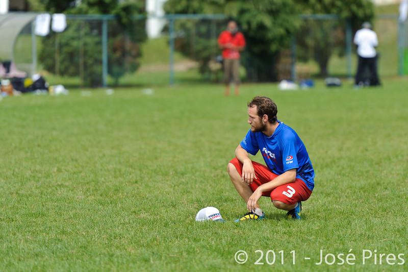 EUC2011, Maribor Slovenia.<br /> France vs Denmark. Pre-Quarterfinals. Open Division<br /> PhotoId :2011-08-04-0107