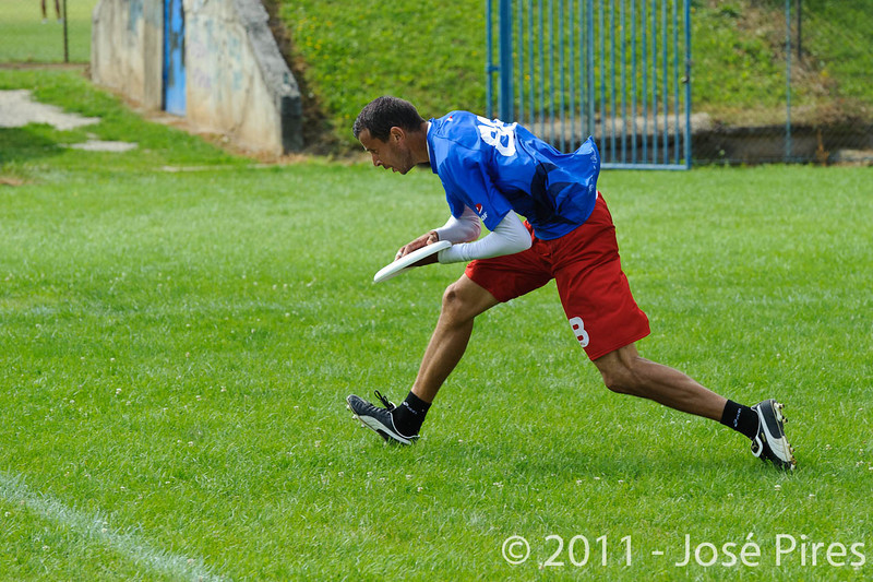 EUC2011, Maribor Slovenia.<br /> France vs Denmark. Pre-Quarterfinals. Open Division<br /> PhotoId :2011-08-04-0070