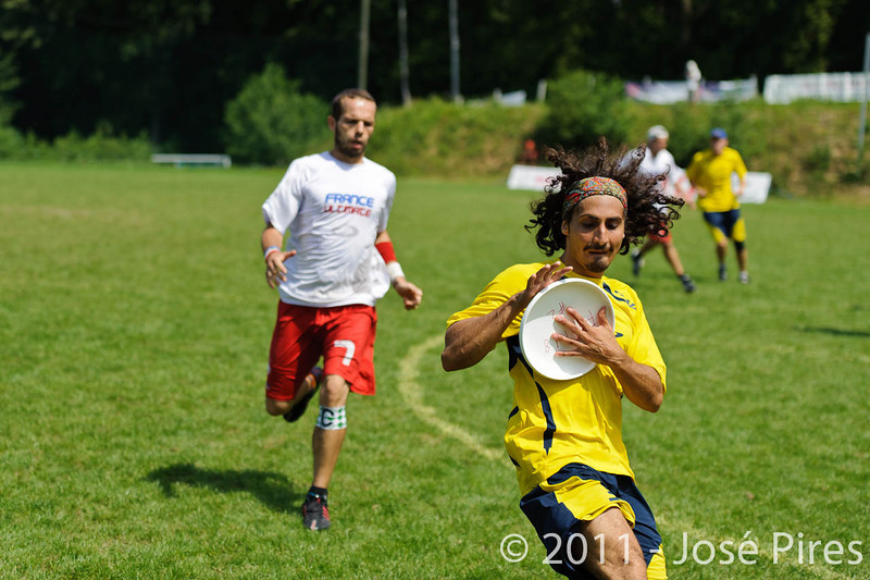 EUC2011, Maribor Slovenia.<br /> France vs Sweden. Open Division<br /> PhotoId :2011-08-03-0547