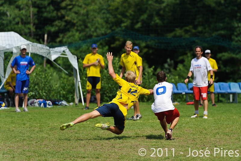 EUC2011, Maribor Slovenia.<br /> France vs Sweden. Open Division<br /> PhotoId :2011-08-03-0616