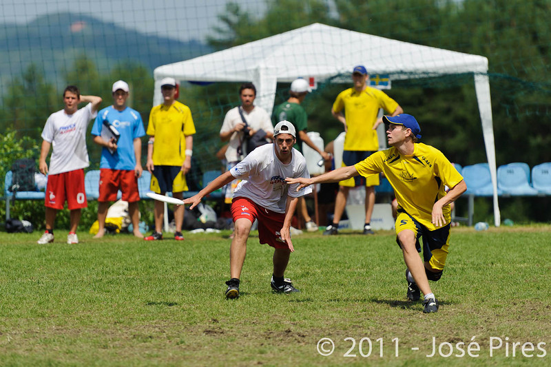 EUC2011, Maribor Slovenia.<br /> France vs Sweden. Open Division<br /> PhotoId :2011-08-03-0555