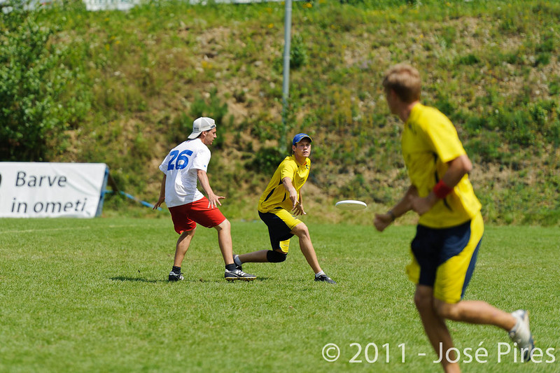 EUC2011, Maribor Slovenia.<br /> France vs Sweden. Open Division<br /> PhotoId :2011-08-03-0542