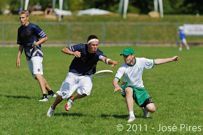 EUC2011, Maribor Slovenia.<br /> Ireland vs Finland. Open Division<br /> PhotoId :2011-08-03-0074