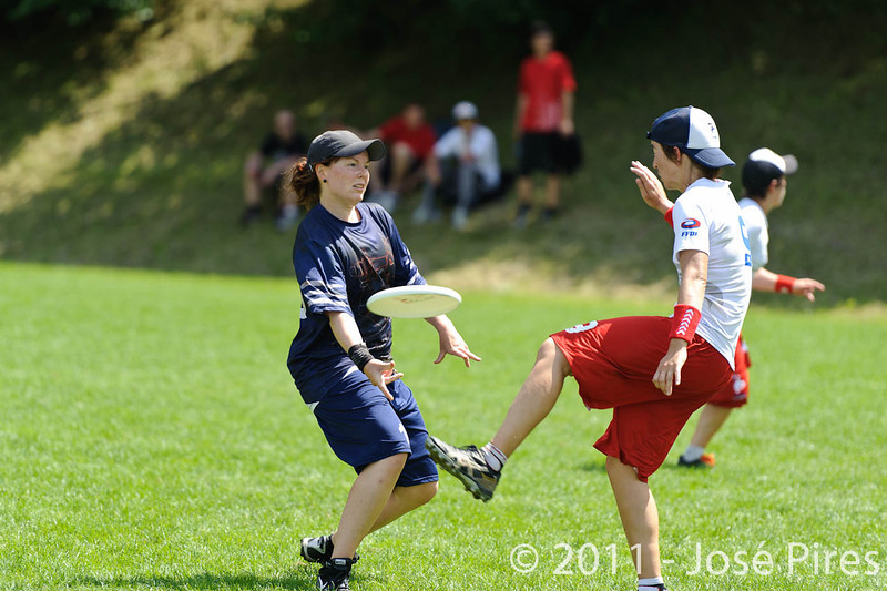 EUC2011, Maribor Slovenia.<br /> Finland vs France. Women Division.<br /> PhotoID : 2011-07-31-0444