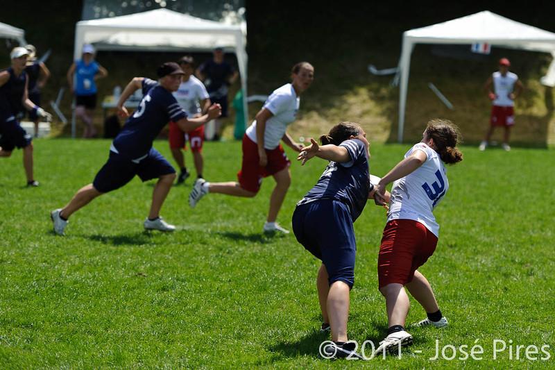 EUC2011, Maribor Slovenia.<br /> Finland vs France. Women Division.<br /> PhotoID : 2011-07-31-0452