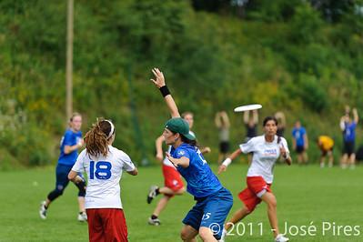 Sunday. Women. France - Czech Republic (12-17)