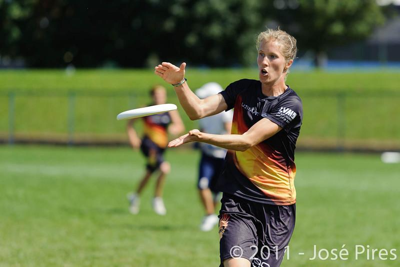 EUC2011, Maribor Slovenia.<br /> Germany vs Finland. Semi-final. Women Division<br /> PhotoId :2011-08-05-0406