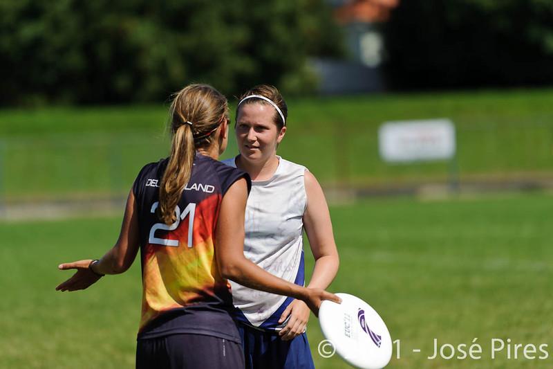 EUC2011, Maribor Slovenia.<br /> Germany vs Finland. Semi-final. Women Division<br /> PhotoId :2011-08-05-0403