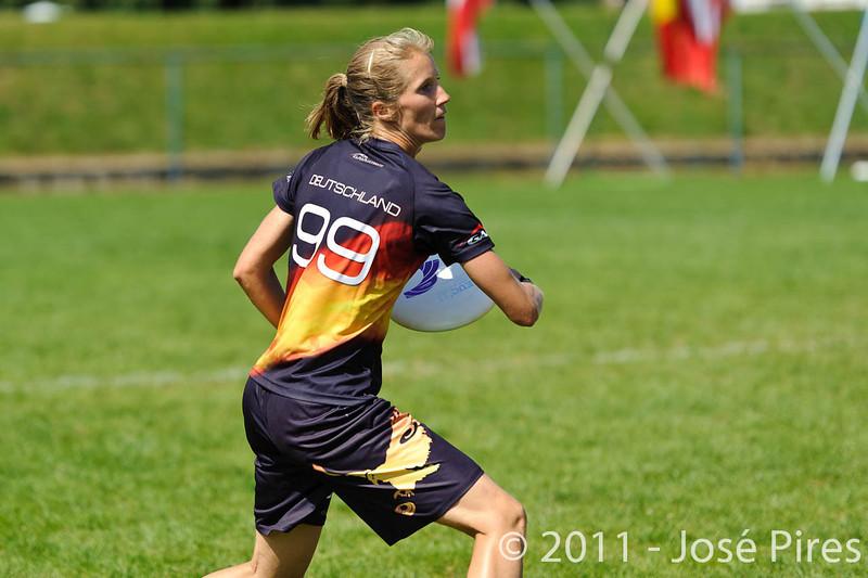 EUC2011, Maribor Slovenia.<br /> Germany vs Finland. Semi-final. Women Division<br /> PhotoId :2011-08-05-0421