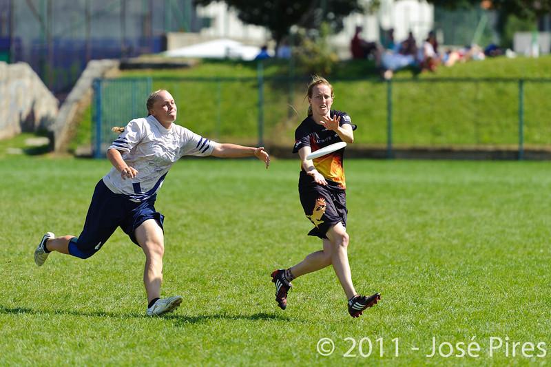 EUC2011, Maribor Slovenia.<br /> Germany vs Finland. Semi-final. Women Division<br /> PhotoId :2011-08-05-0402