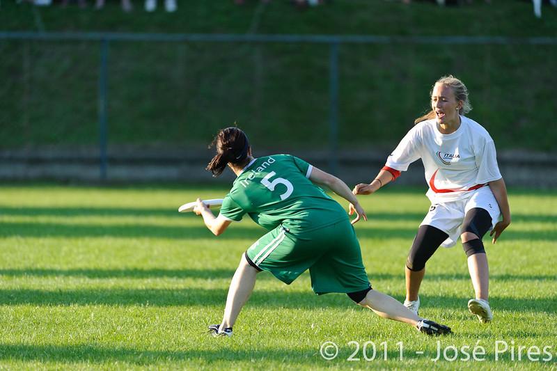 EUC2011, Maribor Slovenia.<br /> Italy vs Ireland. Women Division.<br /> PhotoID : 2011-07-31-1111