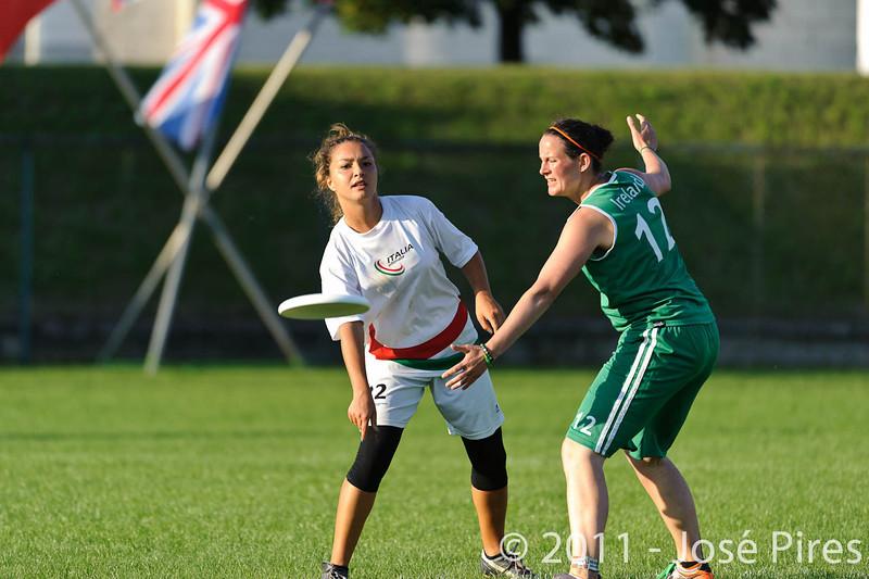 EUC2011, Maribor Slovenia.<br /> Italy vs Ireland. Women Division.<br /> PhotoID : 2011-07-31-1041