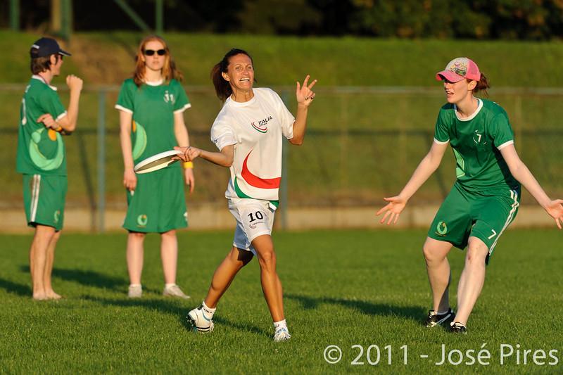 EUC2011, Maribor Slovenia.<br /> Italy vs Ireland. Women Division.<br /> PhotoID : 2011-07-31-1197