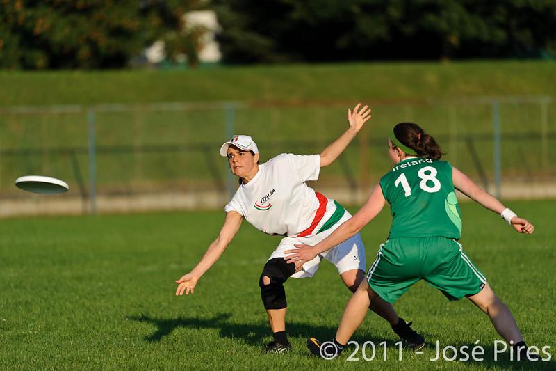 EUC2011, Maribor Slovenia.<br /> Italy vs Ireland. Women Division.<br /> PhotoID : 2011-07-31-1083