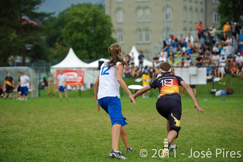 EUC2011, Maribor Slovenia.<br /> Germany vs Great Britain. Final. Women Division<br /> PhotoId :2011-08-06-0974