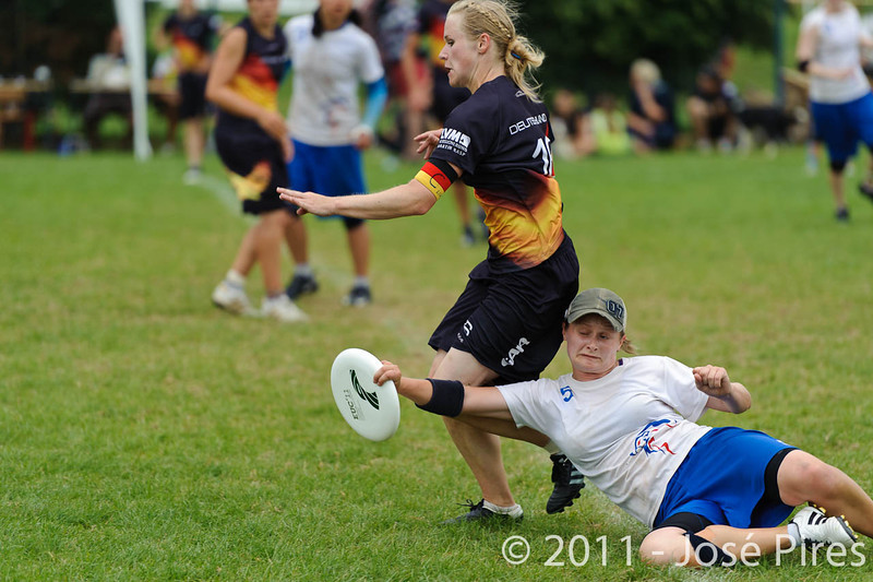 EUC2011, Maribor Slovenia.<br /> Germany vs Great Britain. Final. Women Division<br /> PhotoId :2011-08-06-0749