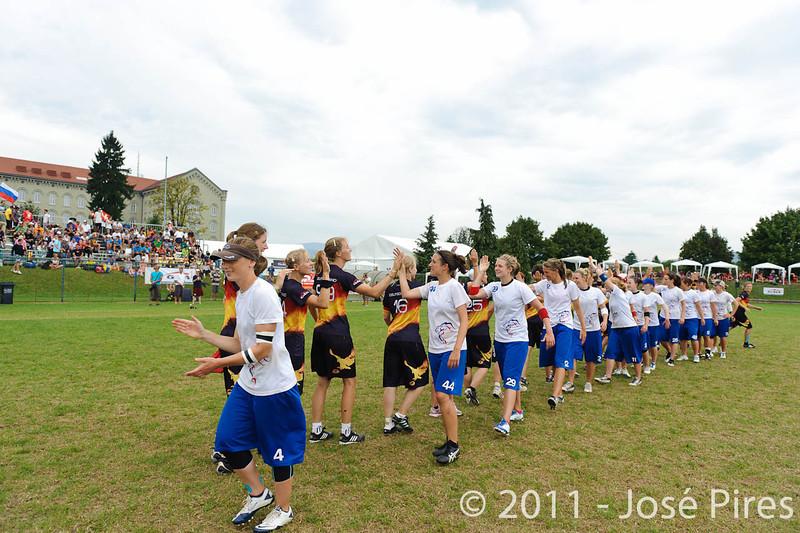 EUC2011, Maribor Slovenia.<br /> Germany vs Great Britain. Final. Women Division<br /> PhotoId :2011-08-06-0537