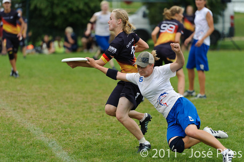 EUC2011, Maribor Slovenia.<br /> Germany vs Great Britain. Final. Women Division<br /> PhotoId :2011-08-06-0747