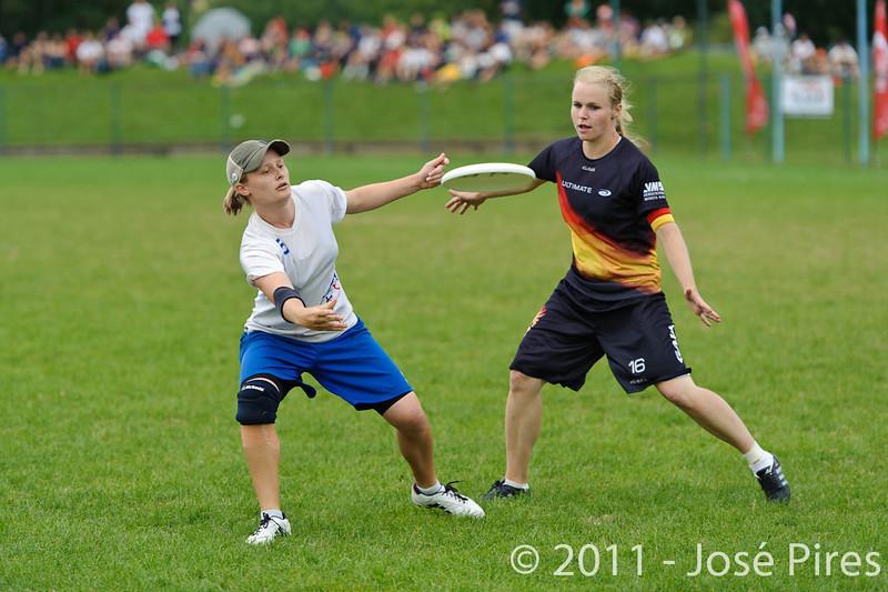 EUC2011, Maribor Slovenia.<br /> Germany vs Great Britain. Final. Women Division<br /> PhotoId :2011-08-06-0636