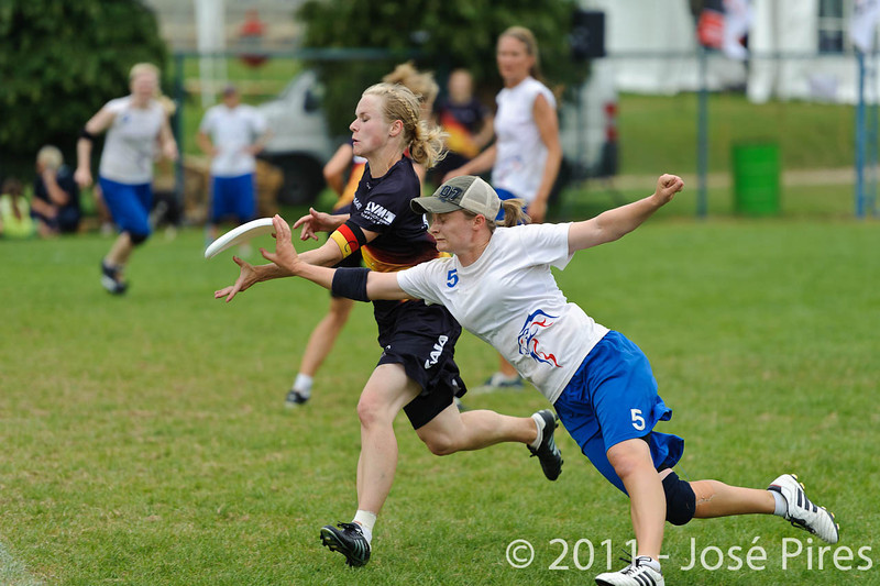 EUC2011, Maribor Slovenia.<br /> Germany vs Great Britain. Final. Women Division<br /> PhotoId :2011-08-06-0746