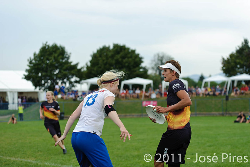 EUC2011, Maribor Slovenia.<br /> Germany vs Great Britain. Final. Women Division<br /> PhotoId :2011-08-06-0686