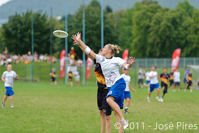 EUC2011, Maribor Slovenia.<br /> Germany vs Great Britain. Final. Women Division<br /> PhotoId :2011-08-06-0616