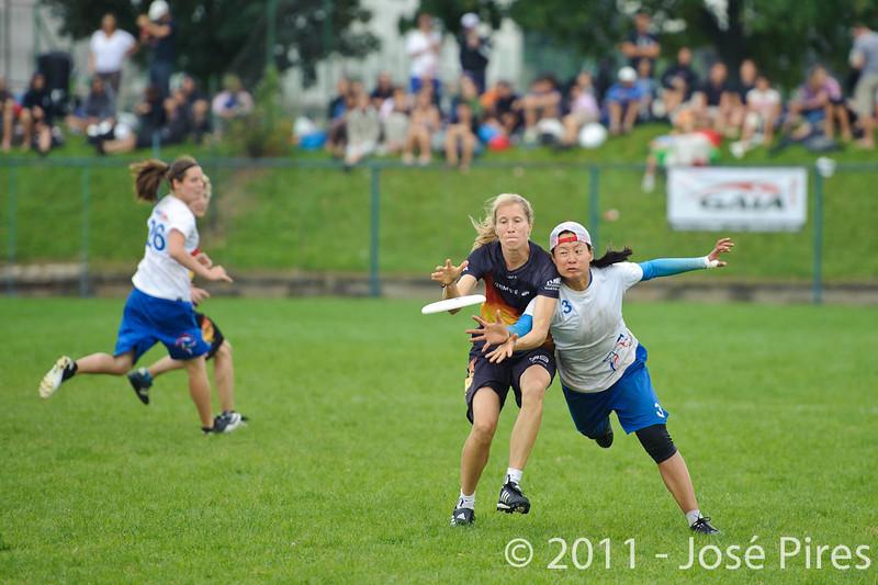 EUC2011, Maribor Slovenia.<br /> Germany vs Great Britain. Final. Women Division<br /> PhotoId :2011-08-06-1110