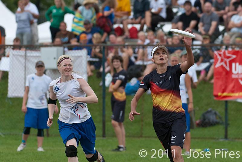 EUC2011, Maribor Slovenia.<br /> Germany vs Great Britain. Final. Women Division<br /> PhotoId :2011-08-06-0721