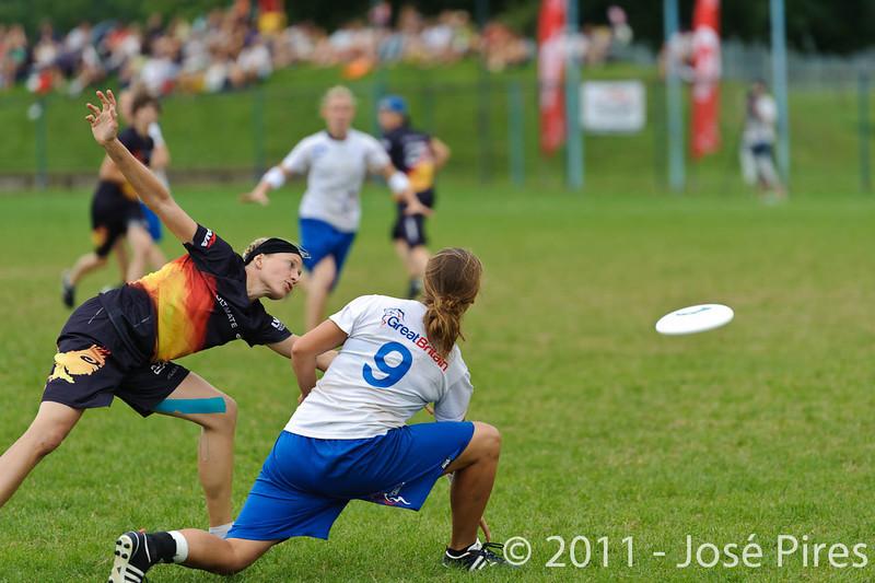 EUC2011, Maribor Slovenia.<br /> Germany vs Great Britain. Final. Women Division<br /> PhotoId :2011-08-06-0572
