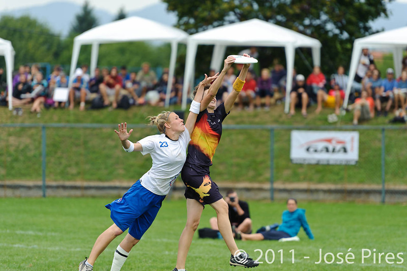 EUC2011, Maribor Slovenia.<br /> Germany vs Great Britain. Final. Women Division<br /> PhotoId :2011-08-06-0755