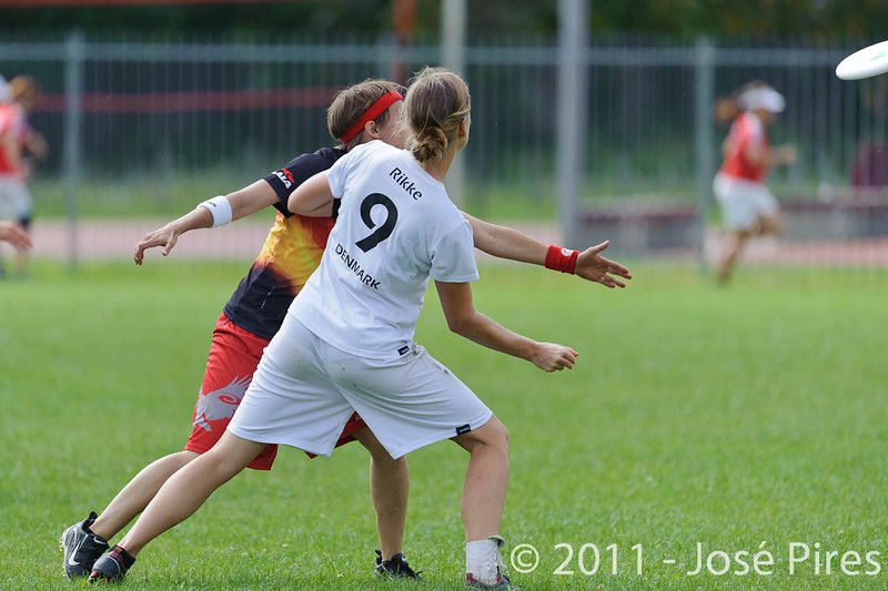 EUC2011, Maribor Slovenia.<br /> Denmark vs Germany. Women Division.<br /> PhotoID : 2011-08-02-0080