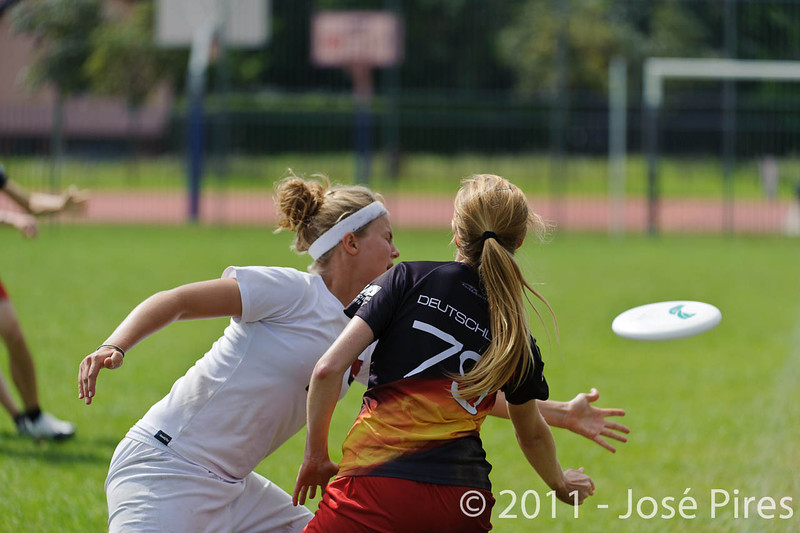 EUC2011, Maribor Slovenia.<br /> Denmark vs Germany. Women Division.<br /> PhotoID : 2011-08-02-0180