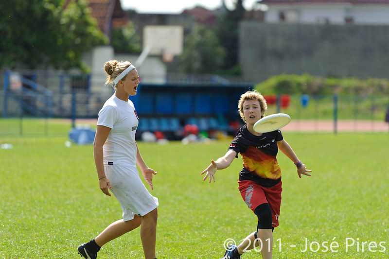 EUC2011, Maribor Slovenia.<br /> Denmark vs Germany. Women Division.<br /> PhotoID : 2011-08-02-0056