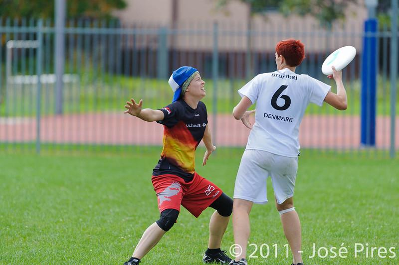 EUC2011, Maribor Slovenia.<br /> Denmark vs Germany. Women Division.<br /> PhotoID : 2011-08-02-0149