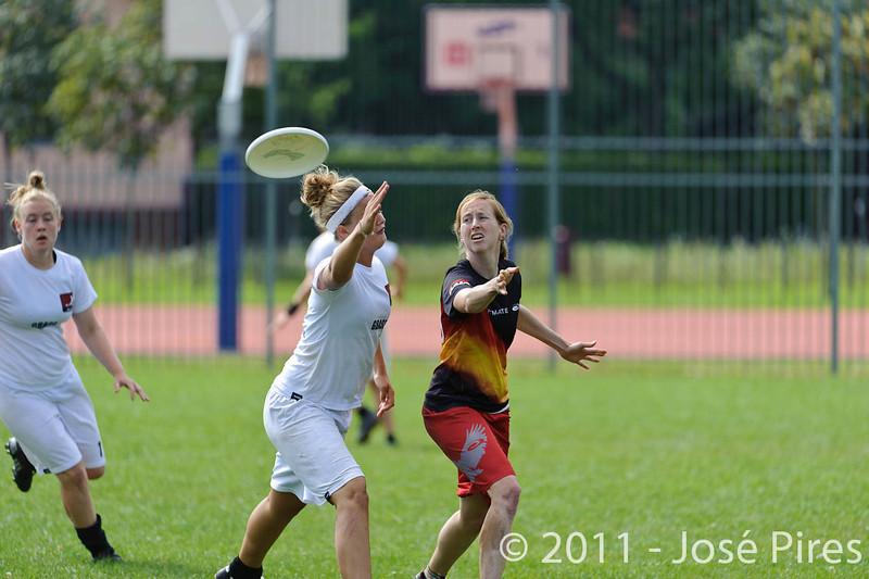 EUC2011, Maribor Slovenia.<br /> Denmark vs Germany. Women Division.<br /> PhotoID : 2011-08-02-0130
