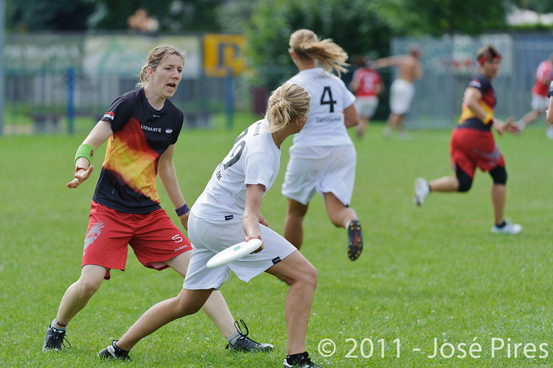 EUC2011, Maribor Slovenia.<br /> Denmark vs Germany. Women Division.<br /> PhotoID : 2011-08-02-0095