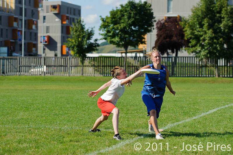 EUC2011, Maribor Slovenia.<br /> Denmark vs Great Britain. Women Division.<br /> PhotoID : 2011-08-02-0950