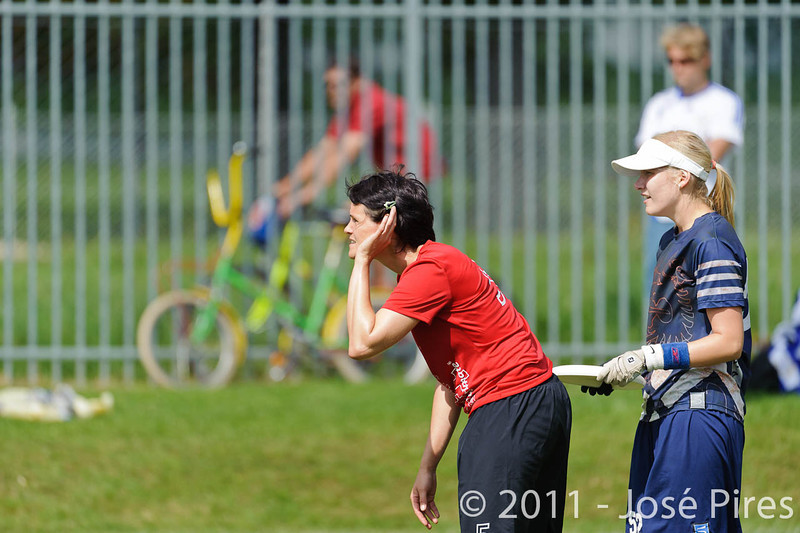 EUC2011, Maribor Slovenia.<br /> Switzerland vs Finland. Women Division.<br /> PhotoID : 2011-08-02-0157