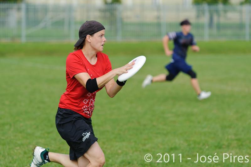EUC2011, Maribor Slovenia.<br /> Switzerland vs Finland. Women Division.<br /> PhotoID : 2011-08-02-0040