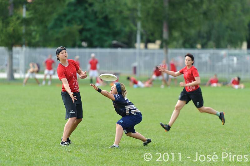 EUC2011, Maribor Slovenia.<br /> Switzerland vs Finland. Women Division.<br /> PhotoID : 2011-08-02-0201