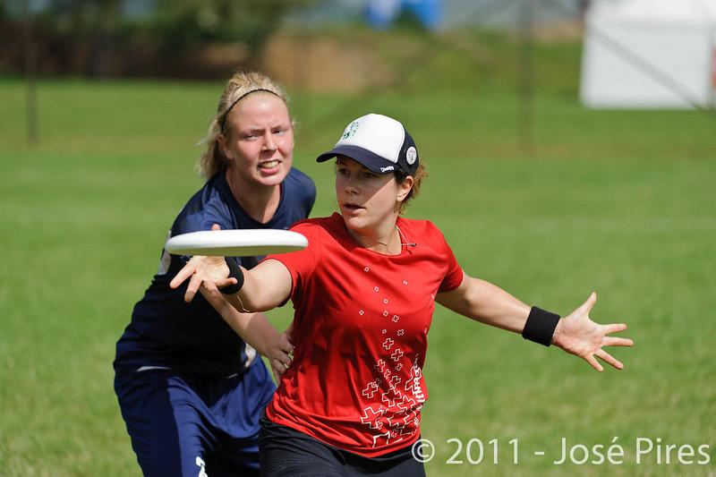 EUC2011, Maribor Slovenia.<br /> Switzerland vs Finland. Women Division.<br /> PhotoID : 2011-08-02-0174