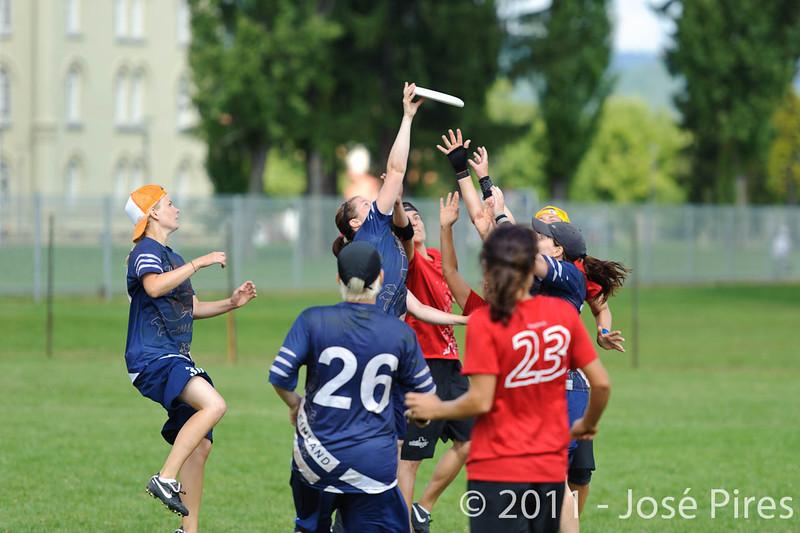 EUC2011, Maribor Slovenia.<br /> Switzerland vs Finland. Women Division.<br /> PhotoID : 2011-08-02-0283