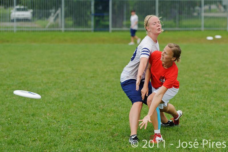 EUC2011, Maribor Slovenia.<br /> Finland vs Denmark. Women Division<br /> PhotoId :2011-08-03-0299