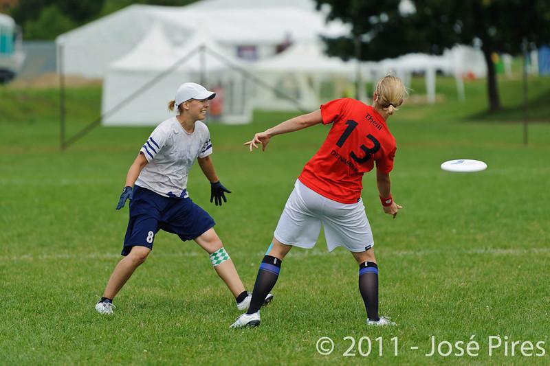 EUC2011, Maribor Slovenia.<br /> Finland vs Denmark. Women Division<br /> PhotoId :2011-08-03-0264