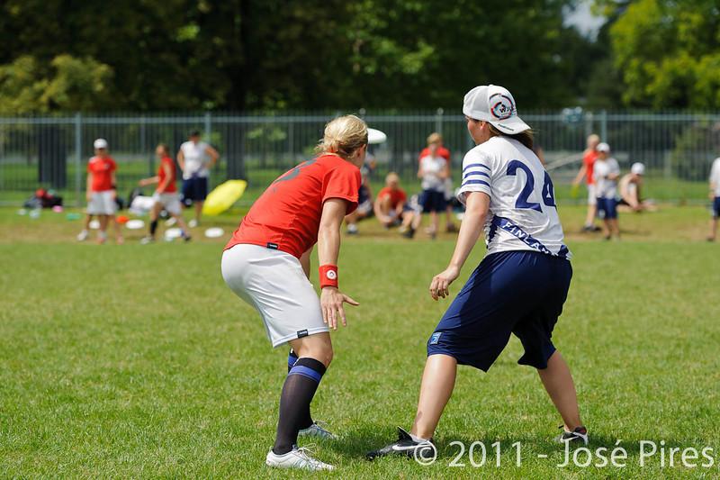 EUC2011, Maribor Slovenia.<br /> Finland vs Denmark. Women Division<br /> PhotoId :2011-08-03-0345