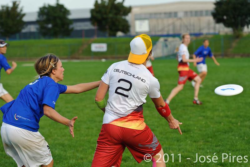 EUC2011, Maribor Slovenia.<br /> Italy vs Germany. Women Division<br /> PhotoId :2011-08-03-1385