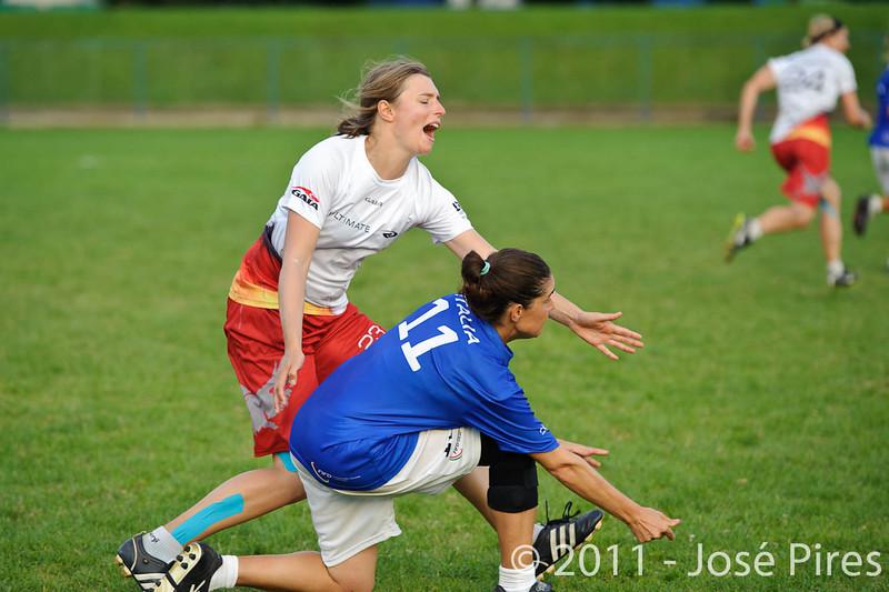 EUC2011, Maribor Slovenia.<br /> Italy vs Germany. Women Division<br /> PhotoId :2011-08-03-1397
