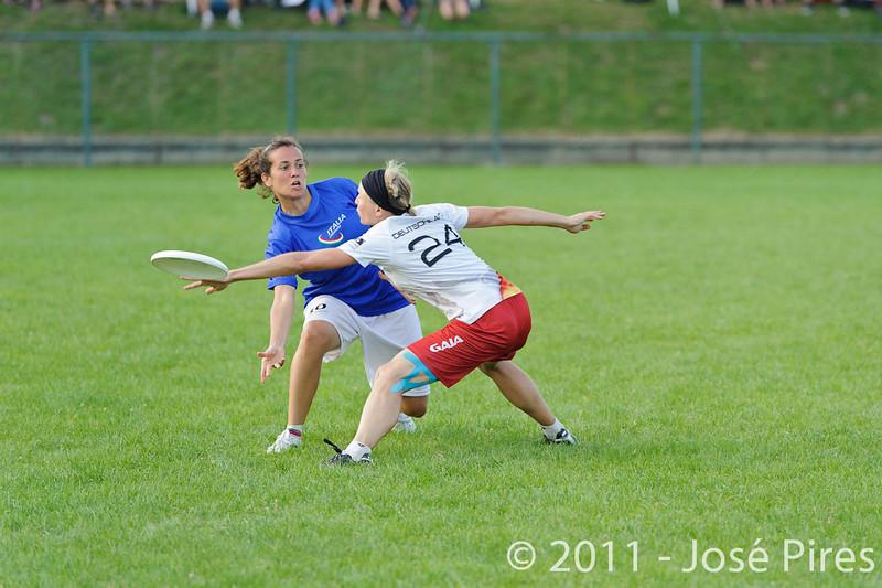 EUC2011, Maribor Slovenia.<br /> Italy vs Germany. Women Division<br /> PhotoId :2011-08-03-1260