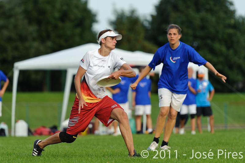 EUC2011, Maribor Slovenia.<br /> Italy vs Germany. Women Division<br /> PhotoId :2011-08-03-1346